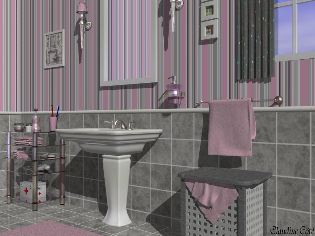 Salle De Bain Gris Argent : Salle de bain gris et noir : pas fait d intérieur, voici une salle de ...